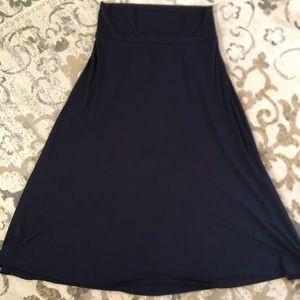 LuLaRoe Maxi Skirt dark navy blue size 2xl